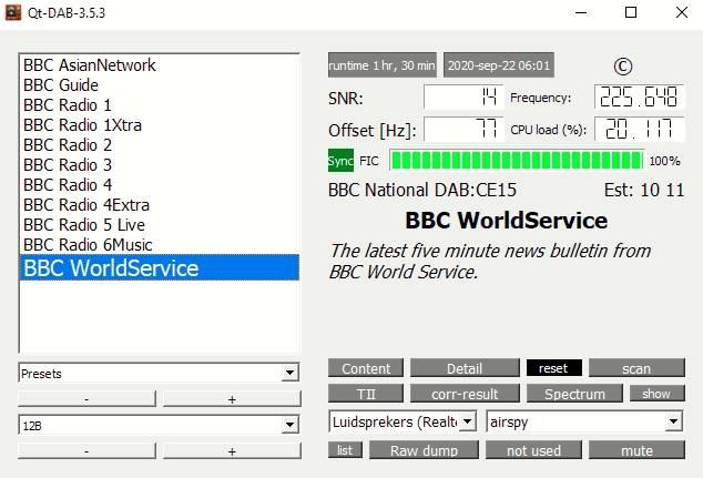 BBC National DAB, Thanet/Westwood