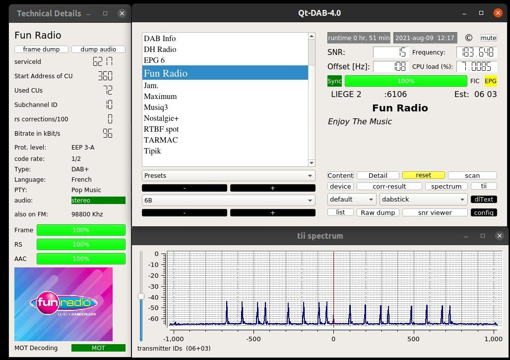 QT-DAB-4.0 on Ubuntu