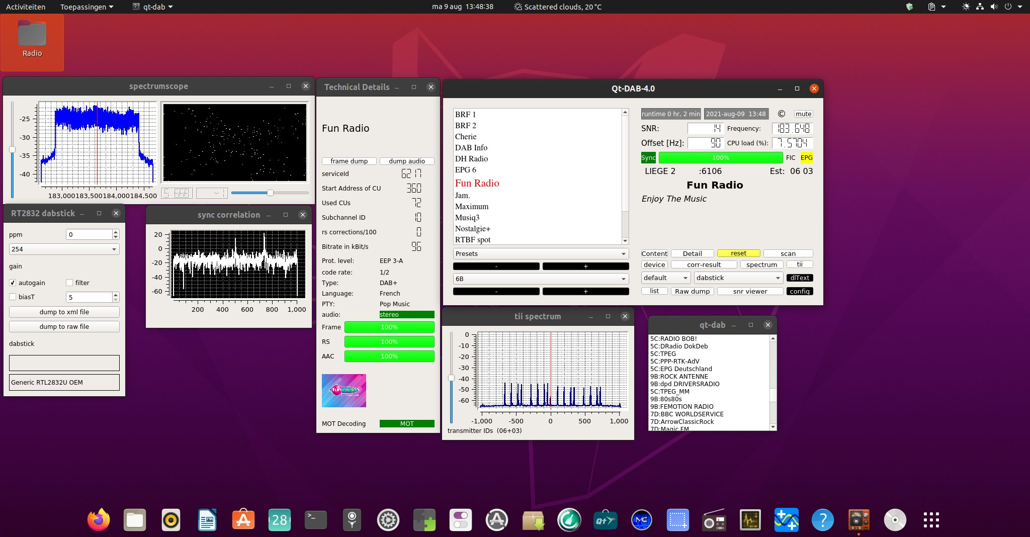 Ubuntu and QT-DAB