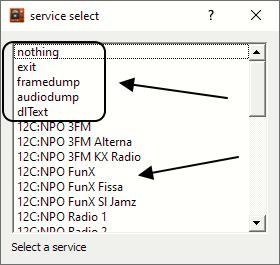 Service select